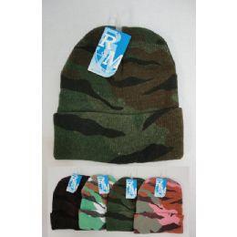 48 Bulk Camo Toboggan Winter Hat