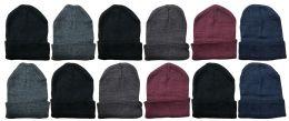 36 Bulk Yacht & Smith Unisex Winter Warm Acrylic Knit Hat Beanie