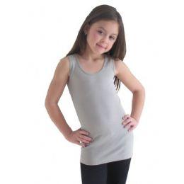24 Bulk Girls Seamless Flat Tanks Tops Youth Size