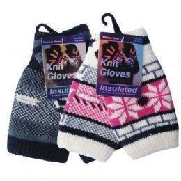 96 Bulk Winter Glove Knit Women Fingerless