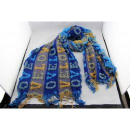 72 Bulk Fashion Scarf With Letters