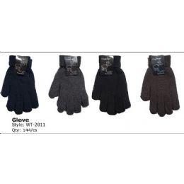 144 Bulk Mens Super Heavy Knit Winter Glove