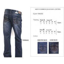 12 Bulk Mens Medium Blue Trendy Jeans
