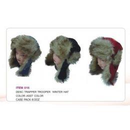 72 Bulk Trapper Trooper Hat With Faux Fur