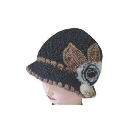 60 Bulk Heany Knit Winter Floral Hat