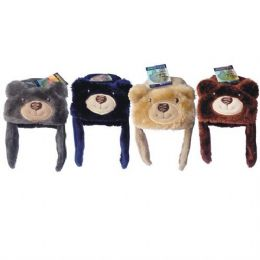 36 Bulk Kids Animal Bear Hat Assorted Colors