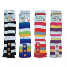 144 Bulk Winter Leg Warmer Stripes
