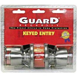 6 Bulk Silver Keyed Entry Doorknob Set