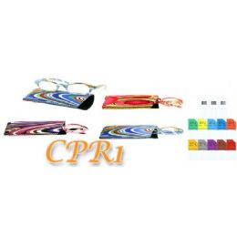 72 Bulk Colorful Pattern Reader With Matching Pouch