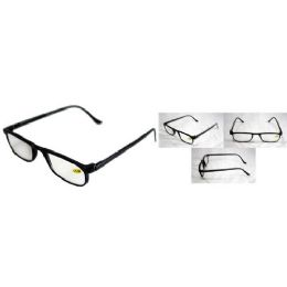 72 Bulk Black Shiny Half Eye Reading Glasses