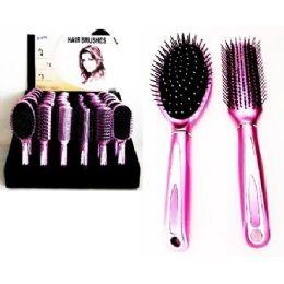 72 Bulk Deluxe Hair Brush Assortment On Counter Display