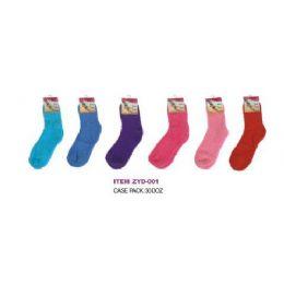 360 Bulk Solid Color Fuzzy Sock