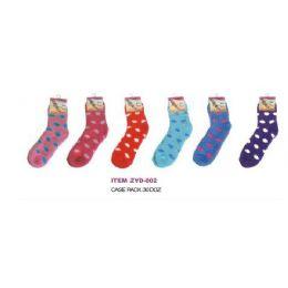 180 Bulk Polka Dot Fuzzy Sock