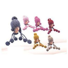 36 Bulk Crochet Pom Pom Winter Hat
