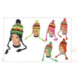 72 Bulk Women's Neon Helmet Hat