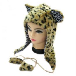 36 Bulk Short Animal Hat Cheeta