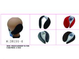 120 Bulk Soft Solid Earmuff W/ Faux Fur