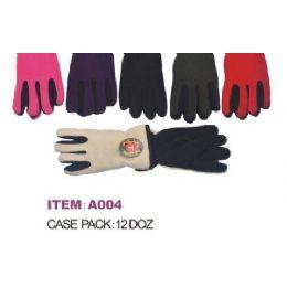 60 Bulk Ladies Adjustable Winter Fleece Gloves