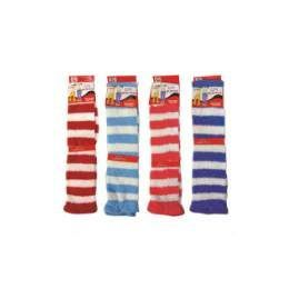 120 Bulk Ladies Stripe Leg Warmer