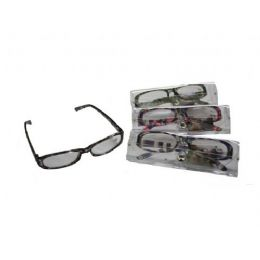 144 Bulk Plastic Printed Reading Glasses With Case