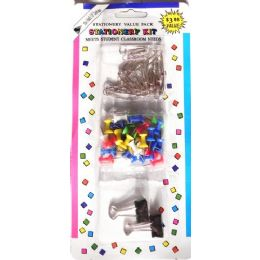 48 Bulk Stationary Value Pack Paper Clips Stick Pins