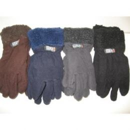 96 Bulk Fleece Gloves W/ Fur Top