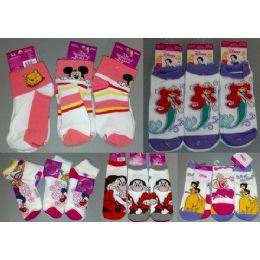 300 Bulk Walt Dsisney Mix Socks For Girls