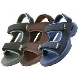 30 Bulk Men's Velcro Strap Sandals