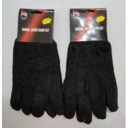 48 Bulk 1pr Brown Jersey Glove