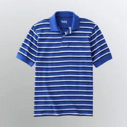 72 Bulk Mens Stripe Polo Shirt