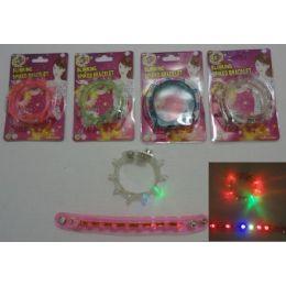 """120 Bulk 8.5"""" Blinking Spike Bracelet"""