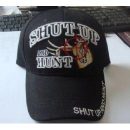 48 Bulk Shut Up & Hunt Hat *deer In Crosshairs*
