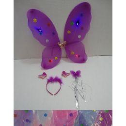 36 Bulk 3pc Butterfly WingS-WanD-Headband Dress Up Set