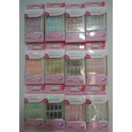 144 Bulk Decorated Artificial NailS-Sparkle