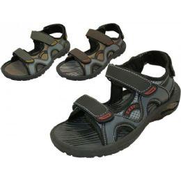 24 Bulk Men's Velcro Strap Sandals