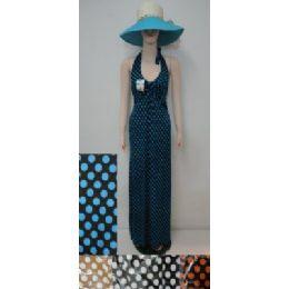 72 Bulk Beach Dress [long]-Polka Dots