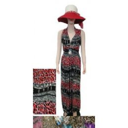 36 Bulk Beach Dress [long]-Waves & Cheetah Print