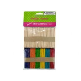 75 Bulk MultI-Colored Mini Craft Sticks