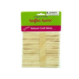 75 Bulk Natural Wood Craft Sticks