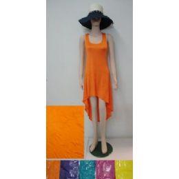 36 Bulk Beach Dress [short]-Solid ColoR-Long In Back