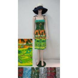 36 Bulk Beach Dress [short]-Palm Trees & Sailboats