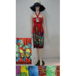 72 Bulk Beach Dress [short]-Butterfly Garden