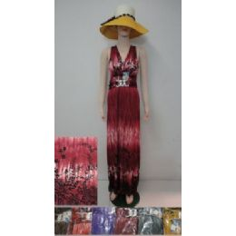 72 Bulk Beach Dress [long]-Color Fade & Flowers [charm]