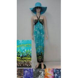 36 Bulk Beach Dress [long]-Color Fade/animal Print