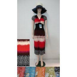 24 Bulk Beach Dress [long]-Jagged Colors