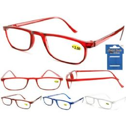 144 Bulk Plastic HalF-Eye Colorful Cheetah Readers