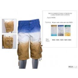 48 Bulk Mens Cargo Shorts 100% Cotton