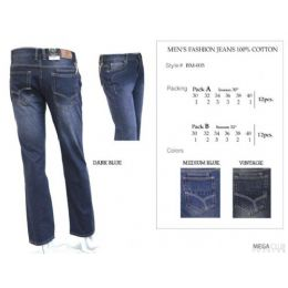 "12 Bulk Mens Trendy Fashion Jeans Inseam 30"""