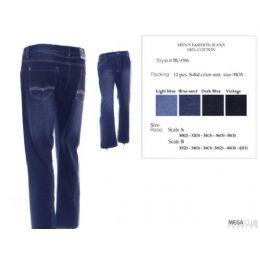 12 Bulk Mens Trendy Fashion Jeans Size Scale 32-42