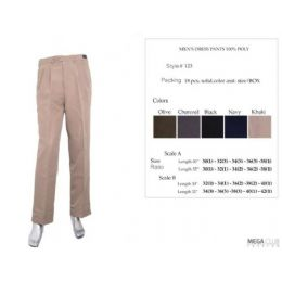 18 Bulk Mens Dress Pants Size Scale B 32-42